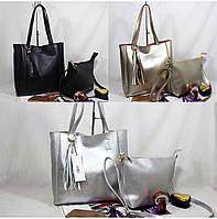Женские сумки 2-в-1 эко кожа РАСПРОДАЖА (3 цвета)31*32см
