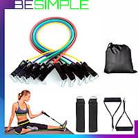 Эспандер для фитнеса / Резинки для тренировок (Копия) - Комплект из 5 штук