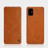Nillkin Samsung Galaxy A71 Qin leather case Brown Чехол Книжка, фото 4
