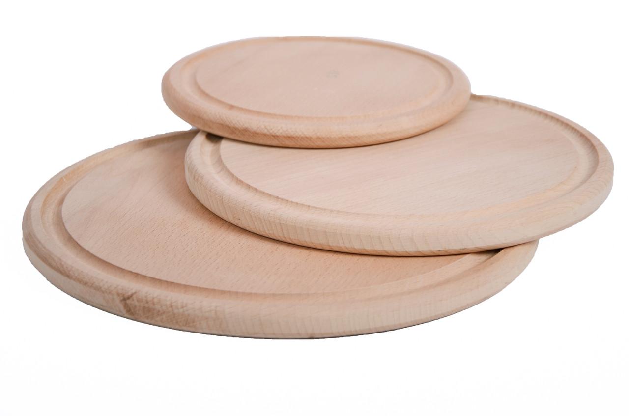 Деревянная доска для пиццы | круглая | заготовка под декупаж | для роcписи| 30 см