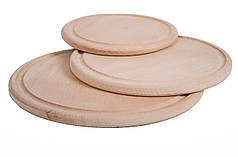 Дерев'яна дошка для піци | кругла | заготівля під декупаж | для розпису| 30 см