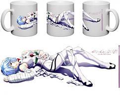 Кружка чашка Evangelion- Рей Аянами