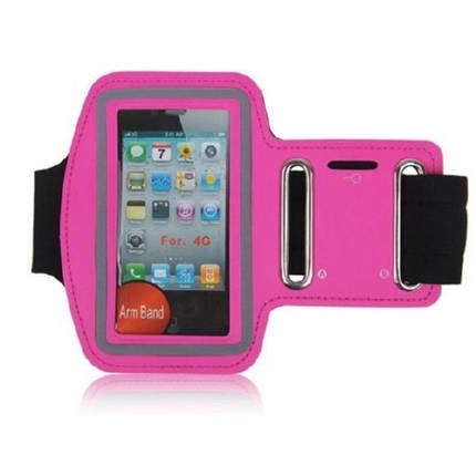 Армбенд, спортивный чехол Iphone 4 4G 4S, розовый, фото 2
