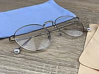 Елегантні жіночі іміджеві / комп'ютерні окуляри для оптики в металевій оправі