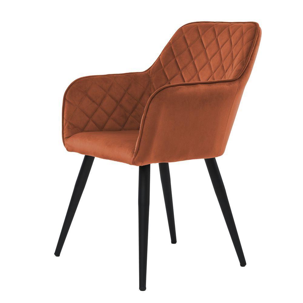 Обеденное кресло ANTIBА (Антиба) коньяк, велюр от Concepto
