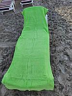 Чехол-подстилка на шезлонг,махровая. зеленая,  Турция