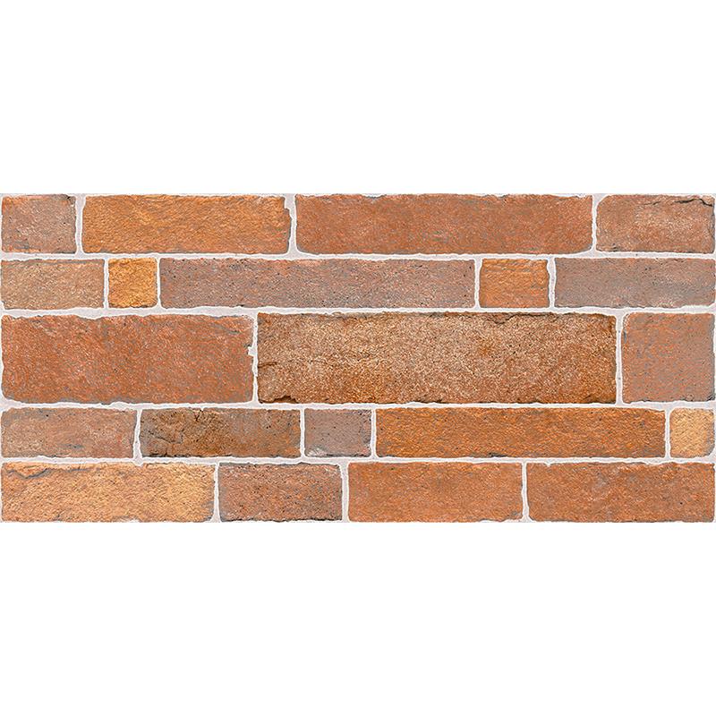 Кахель д/стіни БРІК 23х50 червоно-коричневий 022