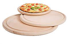 Деревянная доска для пиццы | круглая | заготовка под декупаж | для роcписи| 25 см