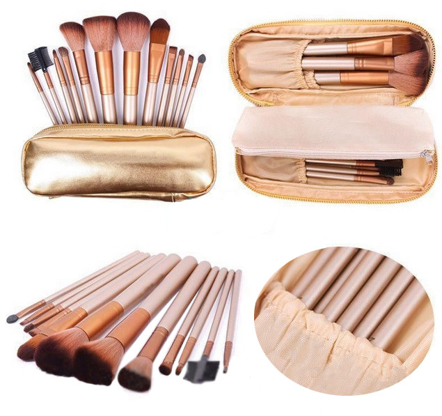 Набор кистей для макияжа Naked 12 шт в чехле - Интернет-магазин Allegoriya в Днепре