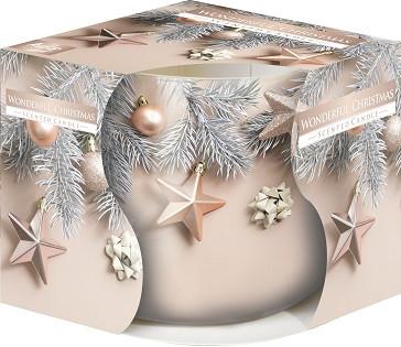 Свеча к новому году Bispol чудесное рождество 7 см(sn71s-52)