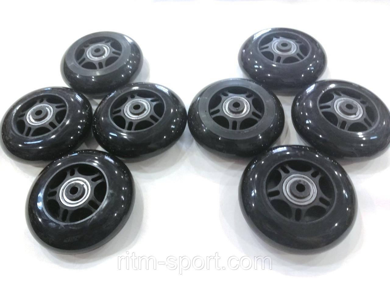Колеса для роликових ковзанів d-80 мм (8 коліс з підшипниками і втулками)