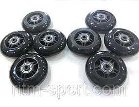 Колеса для роликовых коньков d-80 мм (8 колес с подшипниками и втулками)