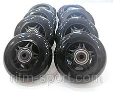 Колеса для роликовых коньков d-80 мм (8 колес с подшипниками и втулками), фото 2