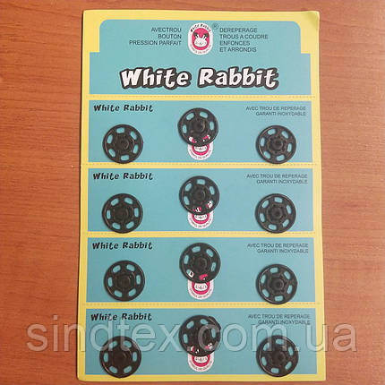 SALE Пришивные застежки-кнопки для одежды D=20мм 12шт пластиковые цвет черный (SALE-0740), фото 2