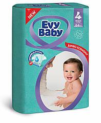 Подгузники детские Evy baby maxi elastic jumbo 4 (7-18 кг) 64 шт