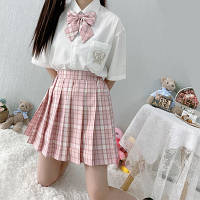 Клетчатая юбка в японском стиле Качество