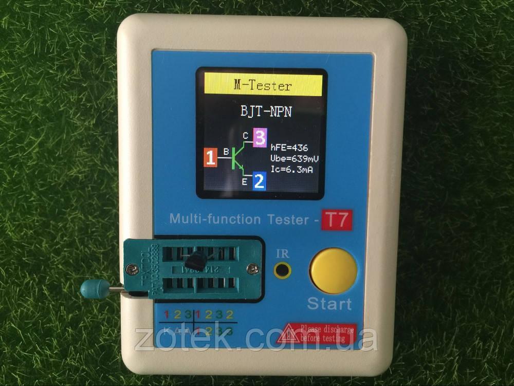 LCR-T7 Тестер радиокомпонентов Измеритель ESR LCR Mega324