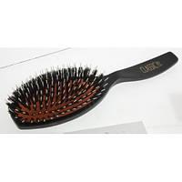 Щетка Sibel большая c нейлоном и натуральной щетиной для нарощенных волос