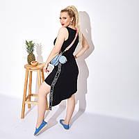 Платье, Ткань: Вискоза, р-р  42-44, 44-46, 46-48, 50-52, цвет: ( Чёрный, Бежевый )