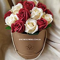 """Букет из мыла, элитные розы из мыла """"Элегант"""". Уникальный подарок для девушки"""