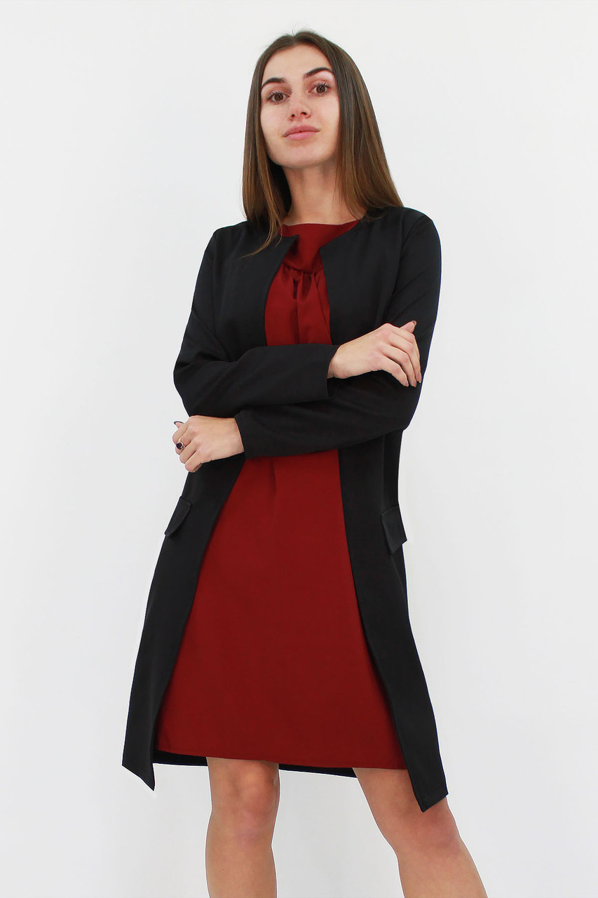 S, M, L, XL | Класичний жіночий кардиган Classic, чорний