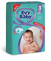 Подгузники детские Evy baby  midi elastic jumbo 3 (5-9 кг) 68 шт