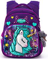 Школьный рюкзак для девочки Единорог Winner One R3-222 + брелок мишка, фото 1