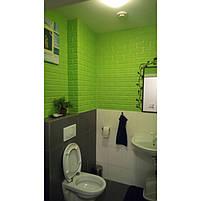 Самоклеюча декоративна 3D панель під зелений цегла 700х770х7мм, фото 2