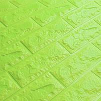 Самоклеюча декоративна 3D панель під зелений цегла 700х770х7мм, фото 3