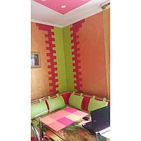Самоклеюча декоративна 3D панель під зелений цегла 700х770х7мм, фото 4