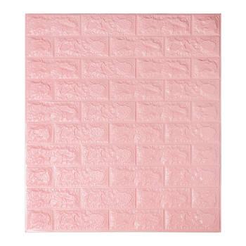 Декоративная 3Д-панель стеновая розовый кирпич 700x770x7мм (самоклеющаяся 3d панель для стен)