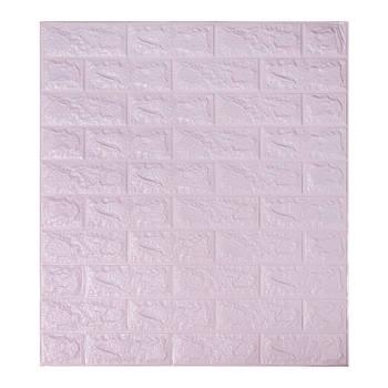 Декоративная 3Д-панель стеновая светло-фиолетовый кирпич 700x770x7мм (самоклеющаяся 3d панель для стен)