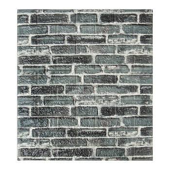 Декоративная 3Д-панель стеновая серый екатеринославский кирпич 700x770x5мм (самоклеющаяся 3d панель для стен)