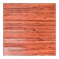 Декоративная 3Д-панель стеновая красное дерево 700x700x6мм (самоклеющаяся 3d панель для стен)