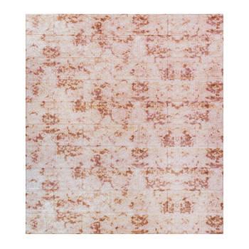 Декоративная 3Д-панель стеновая мрамор красный 700x770x5мм (самоклеющаяся 3d панель для стен)