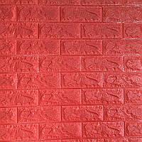 Самоклеющаяся декоративная 3D панель красный кирпич 700x770x7мм (самоклейка, Мягкие 3D Панели)