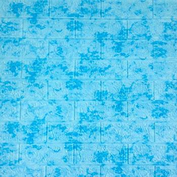 Декоративная 3Д-панель стеновая голубой мрамор 700x770x5мм (самоклеющаяся 3d панель для стен)