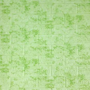 Декоративная 3Д-панель стеновая зеленый мрамор 700x770x5мм (самоклеющаяся 3d панель для стен)
