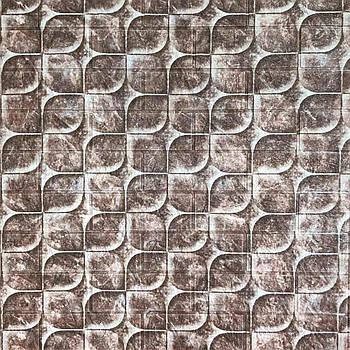 Декоративная 3Д-панель стеновая чешуя 700x770x5мм (самоклеющаяся 3d панель для стен)