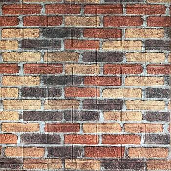Декоративная 3Д-панель стеновая старый кирпич 700x770x5мм (самоклеющаяся 3d панель для стен)