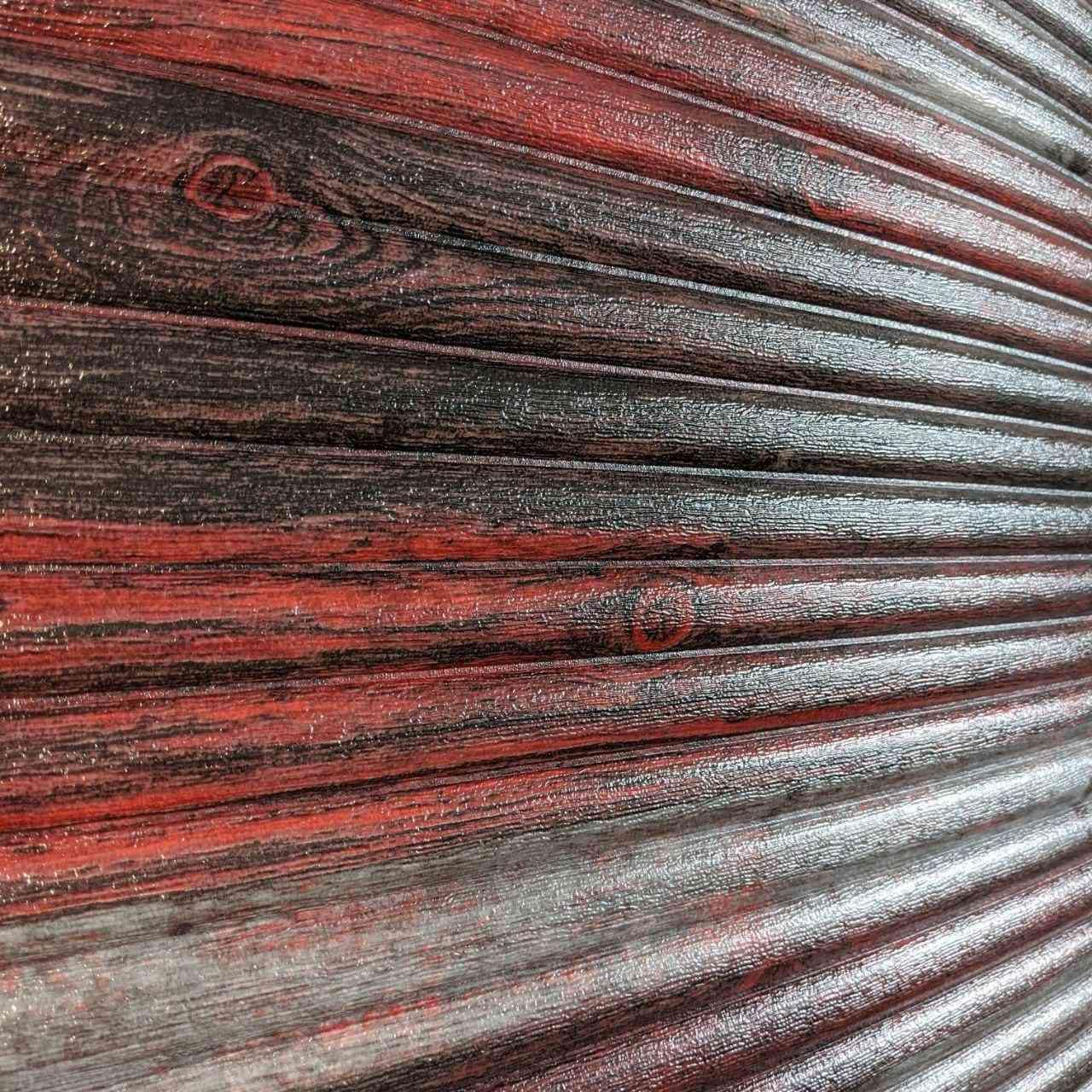 Самоклеюча декоративна 3D панель бамбук червоно-сірий 700x700x9 мм (самоклейка, М'які 3D Панелі)