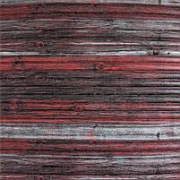 Самоклеюча декоративна 3D панель бамбук червоно-сірий 700x700x9 мм (самоклейка, М'які 3D Панелі), фото 2