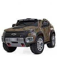 Детский электромобиль Джип «Chevrolet» ZP8009EBLR-10 Хаки