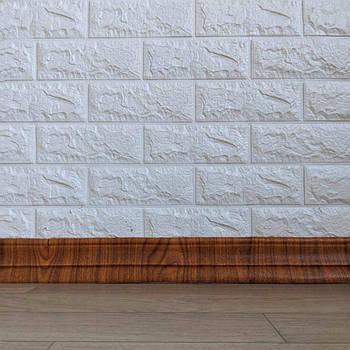 Самоклеящийся гибкий плинтус дерево 240x8 см (толщина 7мм, плинтус самоклейка)
