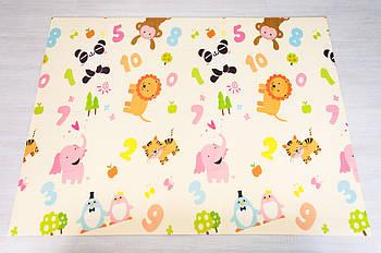 """Дитячий килимок """"Зоопарк - Ростомір"""" (складаний розвиваючий килимок на підлогу) 2*1,8 м (товщина 10 мм)"""