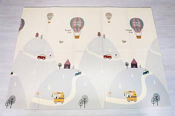 """Дитячий килимок """"Повітряна куля - Тварини"""" (складаний розвиваючий килимок на підлогу) 2*1,8 м (товщина 10 мм)"""