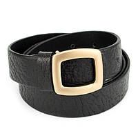 Ремень женский кожаный черный JK-3060 black (105 см)