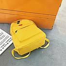 Рюкзак набор для девочки 2 предмета (пенал)с сердечком желтый., фото 8