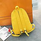 Рюкзак набор для девочки 2 предмета (пенал)с сердечком желтый., фото 6