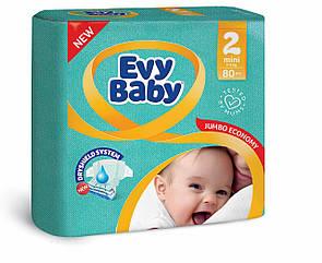 Подгузники детские Evy babymini elastic jumbo 2 (3-6 кг) 80 шт